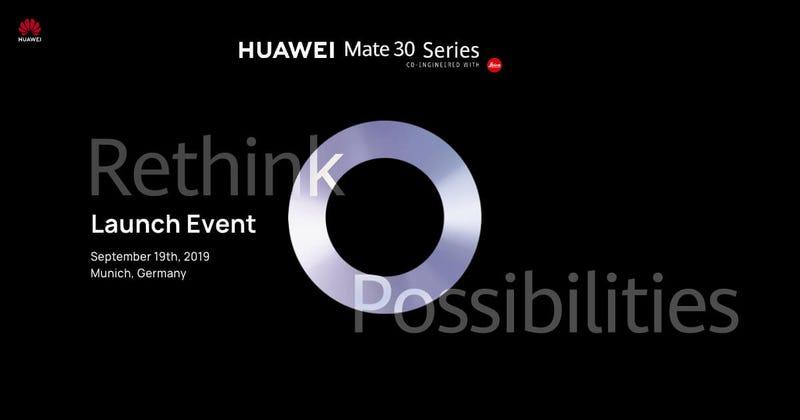 Illustration for article titled El Huawei Mate 30 llega en dos semanas: esto es lo que sabemos