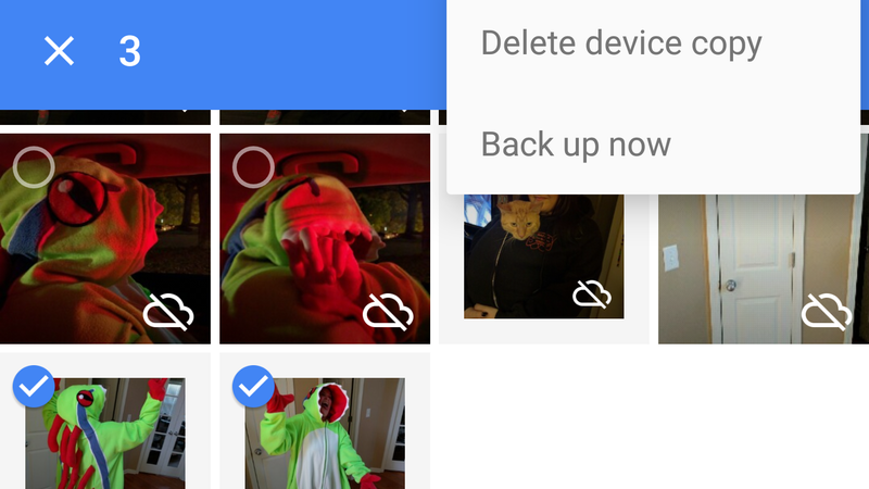 Illustration for article titled Google Photos Now Lets You Selectively Backup Your Pictures