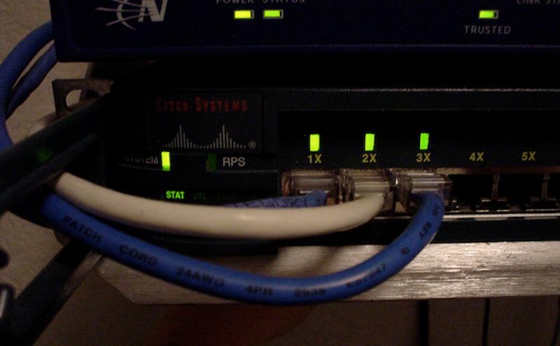 Diy ethernet cabling house