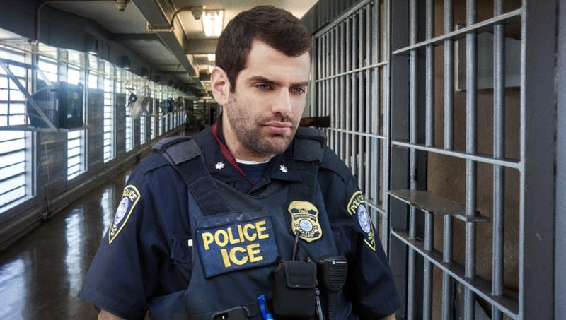 Illustration for article titled ICE Agent Trying To Think Of Fun Name For Jail Cell Before Locking Up Immigrant Child