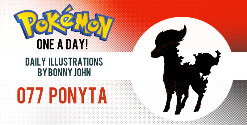 Illustration for article titled Pipin' hot Ponyta!  Pokemon One a Day!