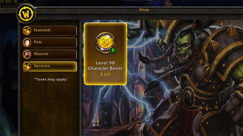 La polémica decisión de vender subidas a nivel 90 en World of Warcraft