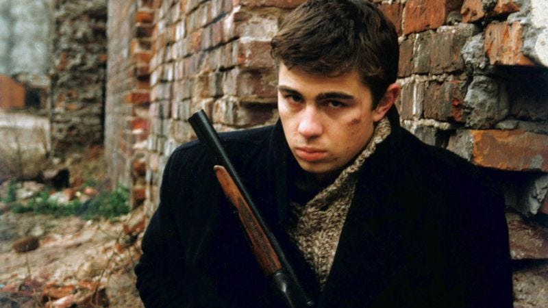 Sergei Bodrov Jr. in a promotional photo for Brother