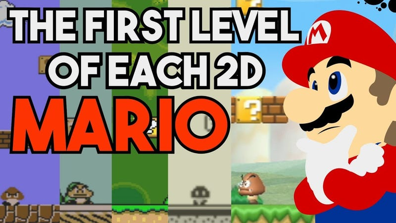Illustration for article titled Mario Games Have Amazing First Levels