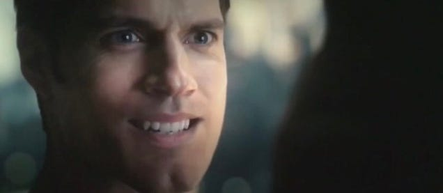 Let us now gaze upon Superman's fucked-up, mustache-free upper lip