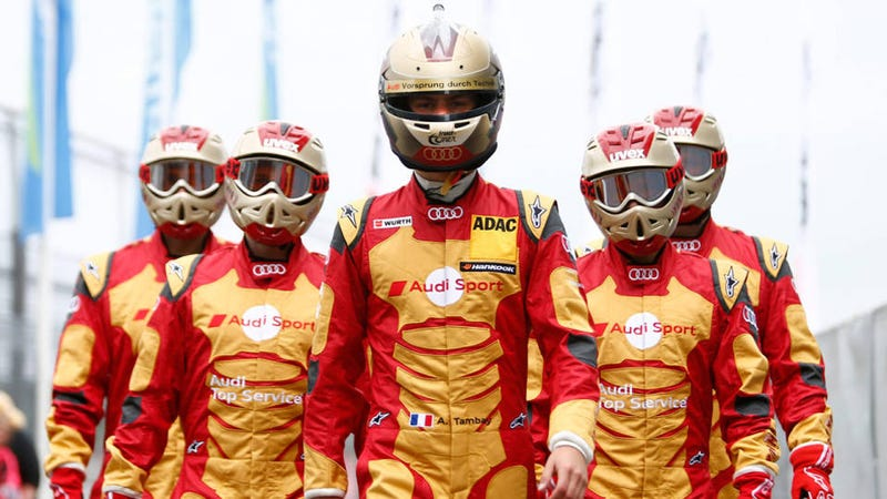 Illustration for article titled This Audi Racing Team Dressed Up As Iron Man For Best Tie-In Ever