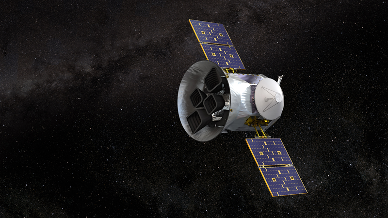 Illustration of what TESS might look like in orbit