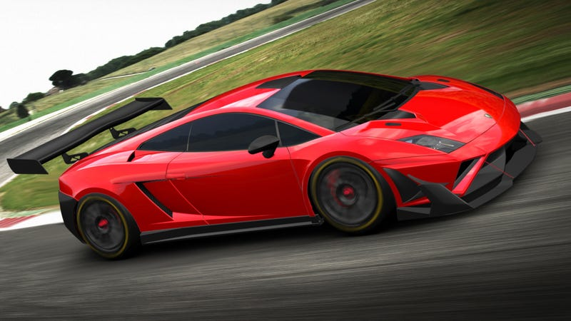 Illustration for article titled The Lamborghini Gallardo GT3 FL2 Is A Factory-Backed Track Weapon