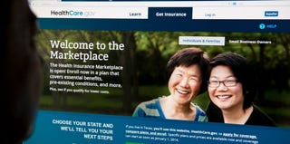 A consumer checks out the HealthCare.gov insurance exchange. (Karen Bleier/AFP/Getty Images)