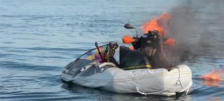 Illustration for article titled BikeBoat That Catches Fire, Sinks Is Not A Compelling Crowdfunding Pitch