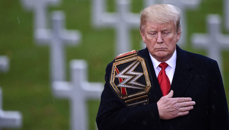 Illustration for article titled Trump Delivers Touching Tribute To Fallen Heroes Of WWE