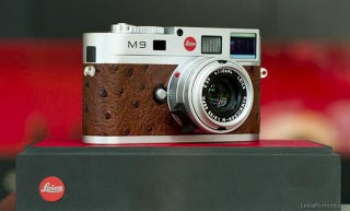 Illustration for article titled This Stunning Leica M9 Wraps Chrome In Ostrich Leather (Yes, Ostrich)