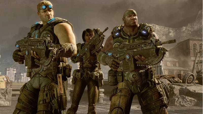 Illustration for article titled Brown Badasses Are Back: A Boatload of Gears of War 3 Campaign Screens