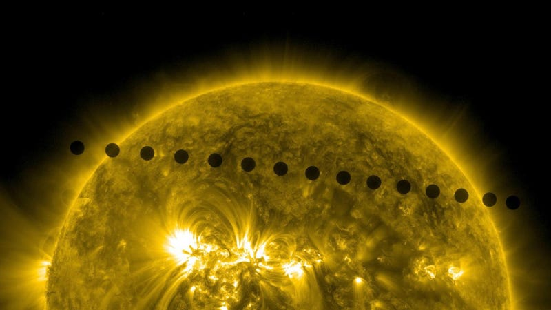 Illustration for article titled Rare Shot of Venus Crossing the Sun May Help Us Find Alien Life