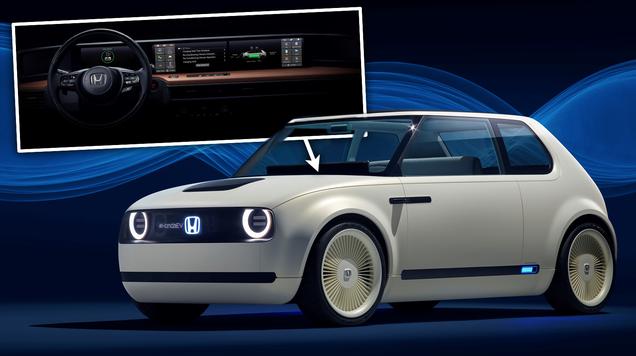 fb0a56f0819 The Interior Of Honda s Retro EV Is All Screens ...