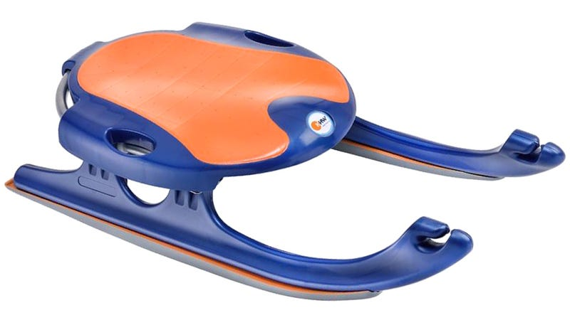 Illustration for article titled Specially-Developed Plastic Runners Let This Sled Slide On Sand