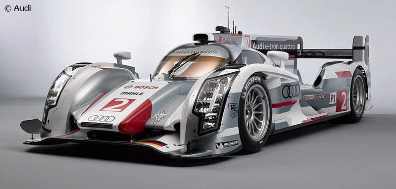 Illustration for article titled 2012 vs 2013 Audi R18 E-Tron Quattro