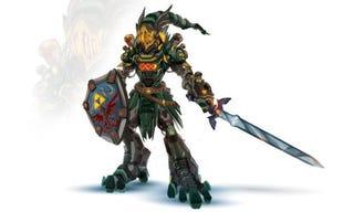 Illustration for article titled Una buena idea: Link, Sephiroth y Ultron reimaginados como mechas