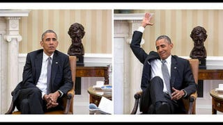 President Barack Obama upon learning that the Supreme Court had affirmed Affordable Care Act subsidies in June 2015White House photo by Pete Souza