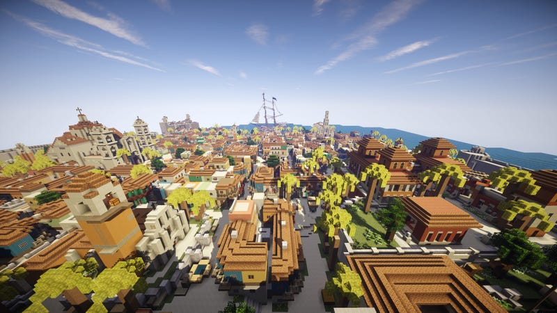 Havana from Assassin's Creed IV, Recreated in Minecraft