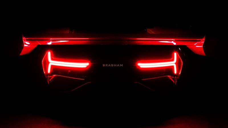 Illustration for article titled This Giant Wing Is Your First Peek At The New Supercar From The Famous Brabham F1 Family