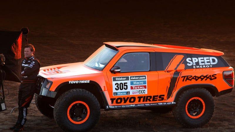 Illustration for article titled Robby Gordon's New Truck: 300 HP For Dakar, 1200 For The Street