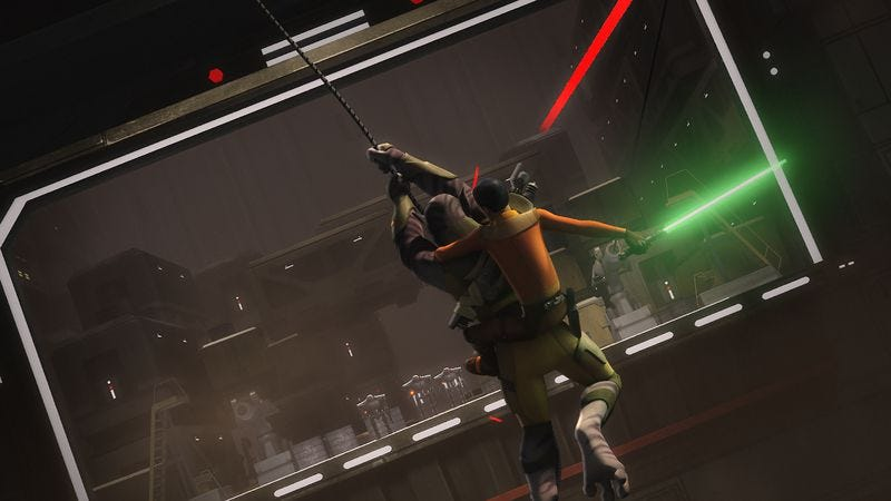 Illustration for article titled A clunky Star Wars Rebels is redeemed by solid action, solid pacing, and solid Hondo