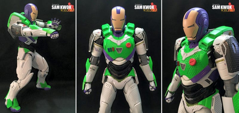 Illustration for article titled This Custom Iron Man Figure Is What a Real-Life Buzz Lightyear Would Look Like