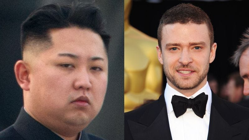 Illustration for article titled Kim Jong-Un, Justin Timberlake Meet To Pick New Pope, According To Shameless Attempt To Increase Web Traffic