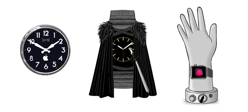Illustration for article titled These Are the (Fictional) Apple Watch Accessories You'll Really Want