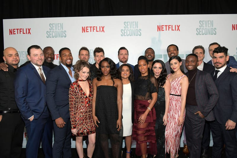 The cast and crew at Netflix's Seven Seconds premiere and post-reception in Beverly Hills, Calif., on Feb. 23, 2018