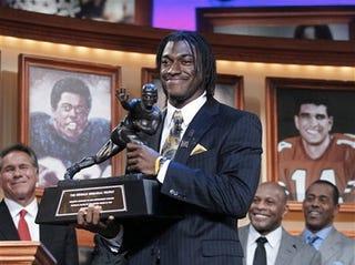 Illustration for article titled Black Quarterback Wins Heisman Trophy