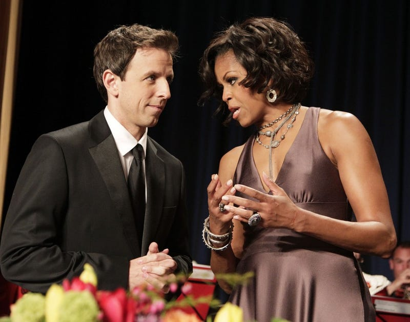 Illustration for article titled The First Lady Has Some Advice for Seth Meyers