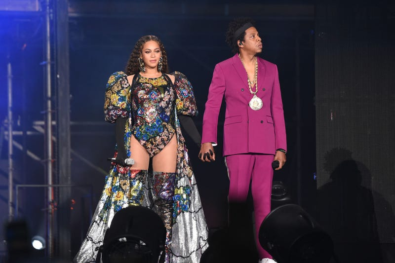 Beyonce and Jay-Z perform during Global Citizen Festival: Mandela 100 at FNB Stadium on December 2, 2018 in Johannesburg, South Africa.