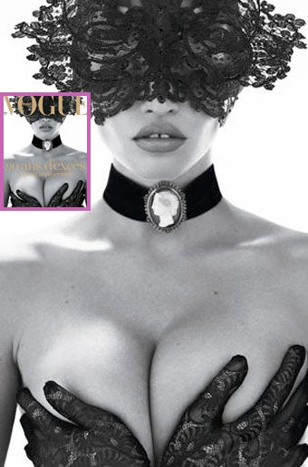 Illustration for article titled Lara Stone's Breasts Nab French Vogue Cover