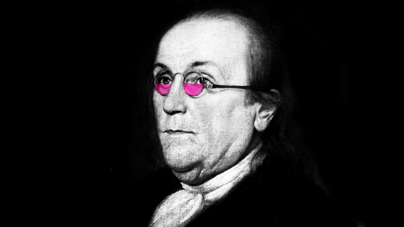 Illustration for article titled A Salute to Benjamin Franklin, the Original Tiny Glasses-Wearer