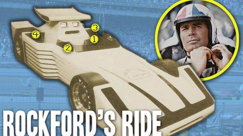 Illustration for article titled The Mystery Of James Garner's Secret Indy Car