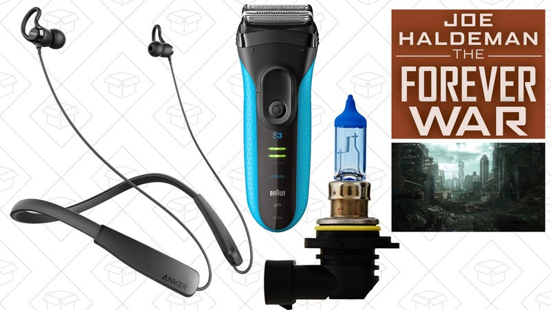 Illustration for article titled Today's Best Deals: Anker Neckbuds, Headlight Bulbs, SONOS Speakers, and More