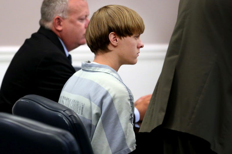 Dylann Roof (center), the suspect in the mass shooting that left nine dead in a Charleston, S.C., church in June 2015, appears in court July 18, 2015, in Charleston, S.C.Grace Beahm-Pool/Getty Images