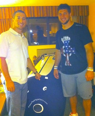 Illustration for article titled Tim Tebow's Hyperbaric Chamber Lets Him Use Oxygen Better Than You, Too