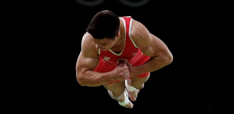 Nikita Nagornyy competes on vault at the 2016 Olympics. Laurence Griffiths/Getty Images