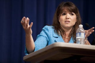 Delaware GOP Senate candidate Christine O'Donnell. (Brendan Smialowski/Getty Images)