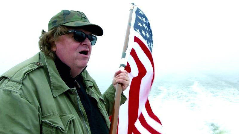 Illustration for article titled Michael Moore wants to make America great again with Where To Invade Next