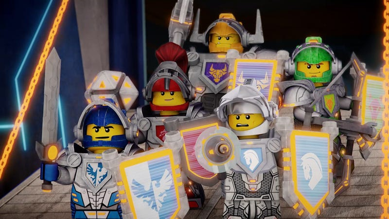 Illustration for article titled Future Knights Battle Dark Magic In LEGO's Latest Original Creation