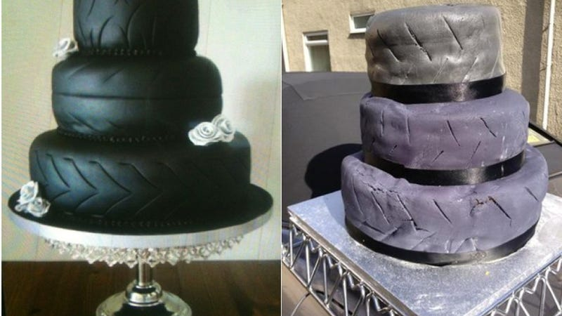 Illustration for article titled This Hideous, Ghastly Wedding Cake Is for Sale on eBay