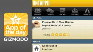 Illustration for article titled Untappd for iPhone and Android: Like Foursquare But for Beers