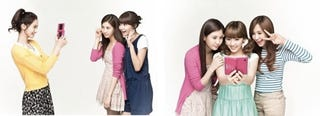 Illustration for article titled Cutesy Korean Girl Group Shilling Nintendo DSi