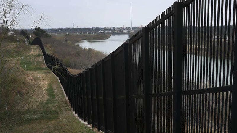 A border fence is seen near the Rio Grande which marks the boundary between Mexico and the U.S. in Eagle Pass, Texas. on February 09, 2019 in Eagle Pass, Texas.