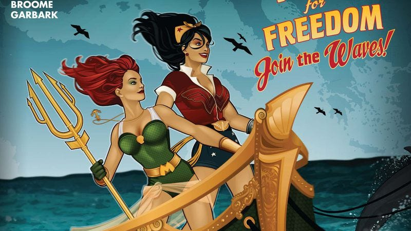 Illustration for article titled Exclusive DC preview: Wonder Woman goes to war in DC Bombshells #2