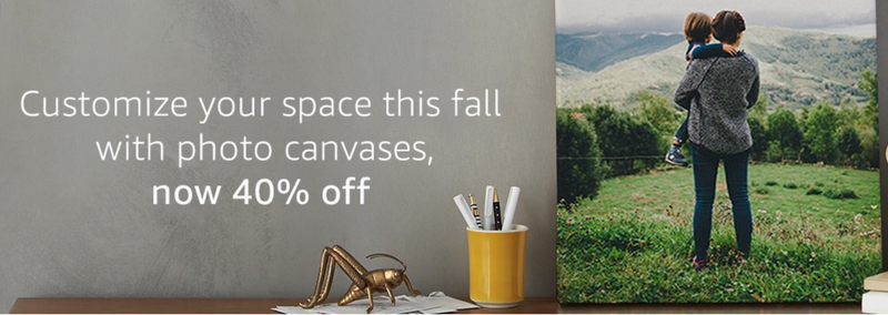 40% off canvas prints with code FALLDECOR40
